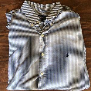 Ralph Lauren - Blue & White Striped - Button Down